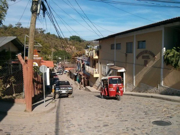 The small city of Copan, Honduras near the Guatemalan border