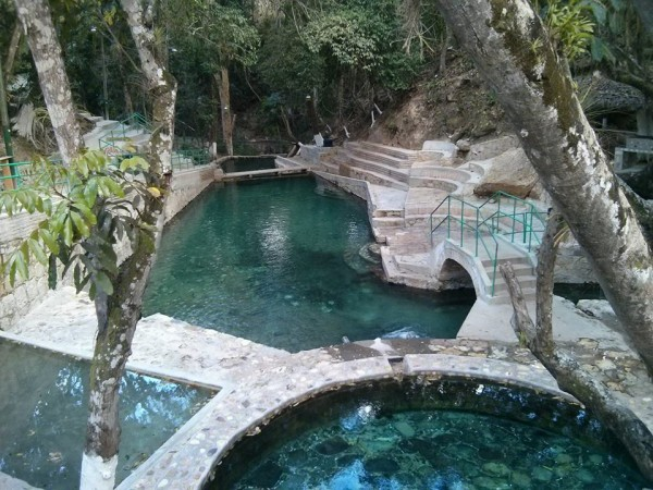 The hot springs of Gracia, Honduras