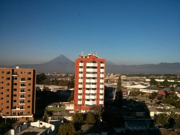 View of Acatenango from Rodrigo's house in Guatemala City, also overlooking the airport the morning I leave