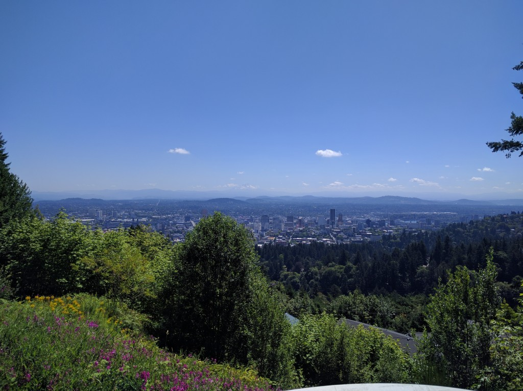 Overlooking Portland from the Pittock Mansion