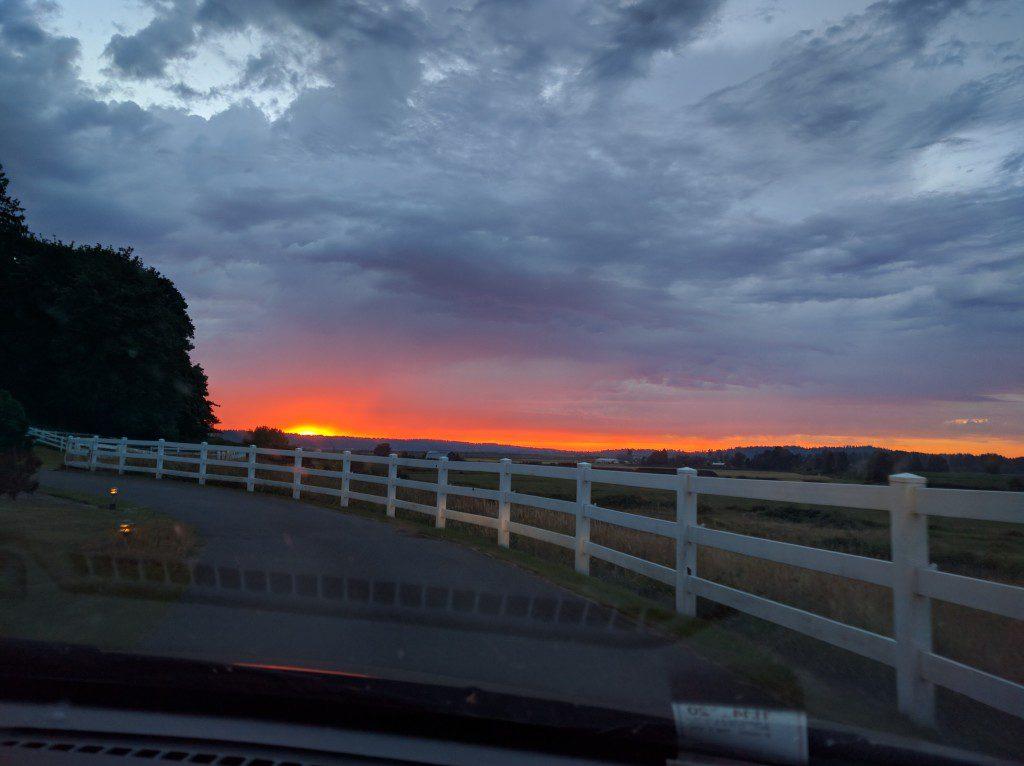 Sunset near Seattle