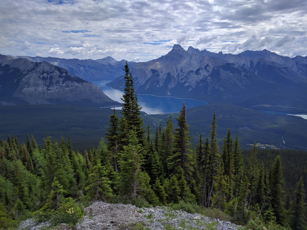 View from the top of Cascade Mountain in Banff National Park