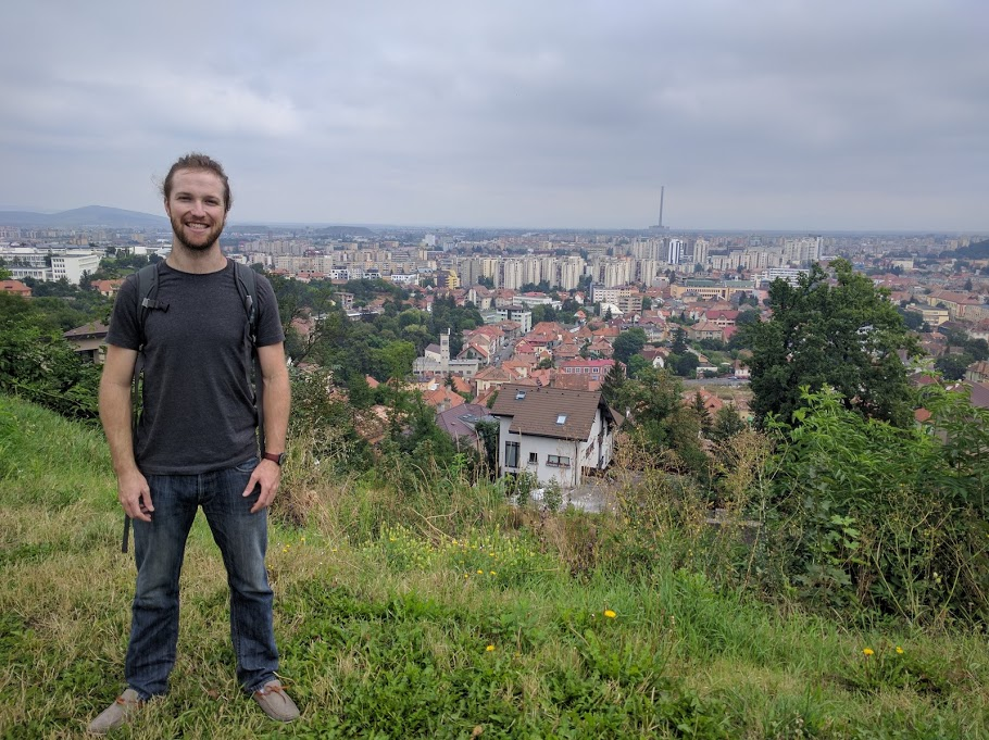 Overlooking Brasov, Romania atop the fortress