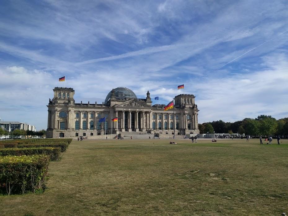 Parliament building in Berlin.