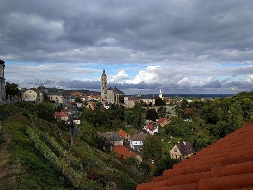 View overlooking the town from St Barbara's Church