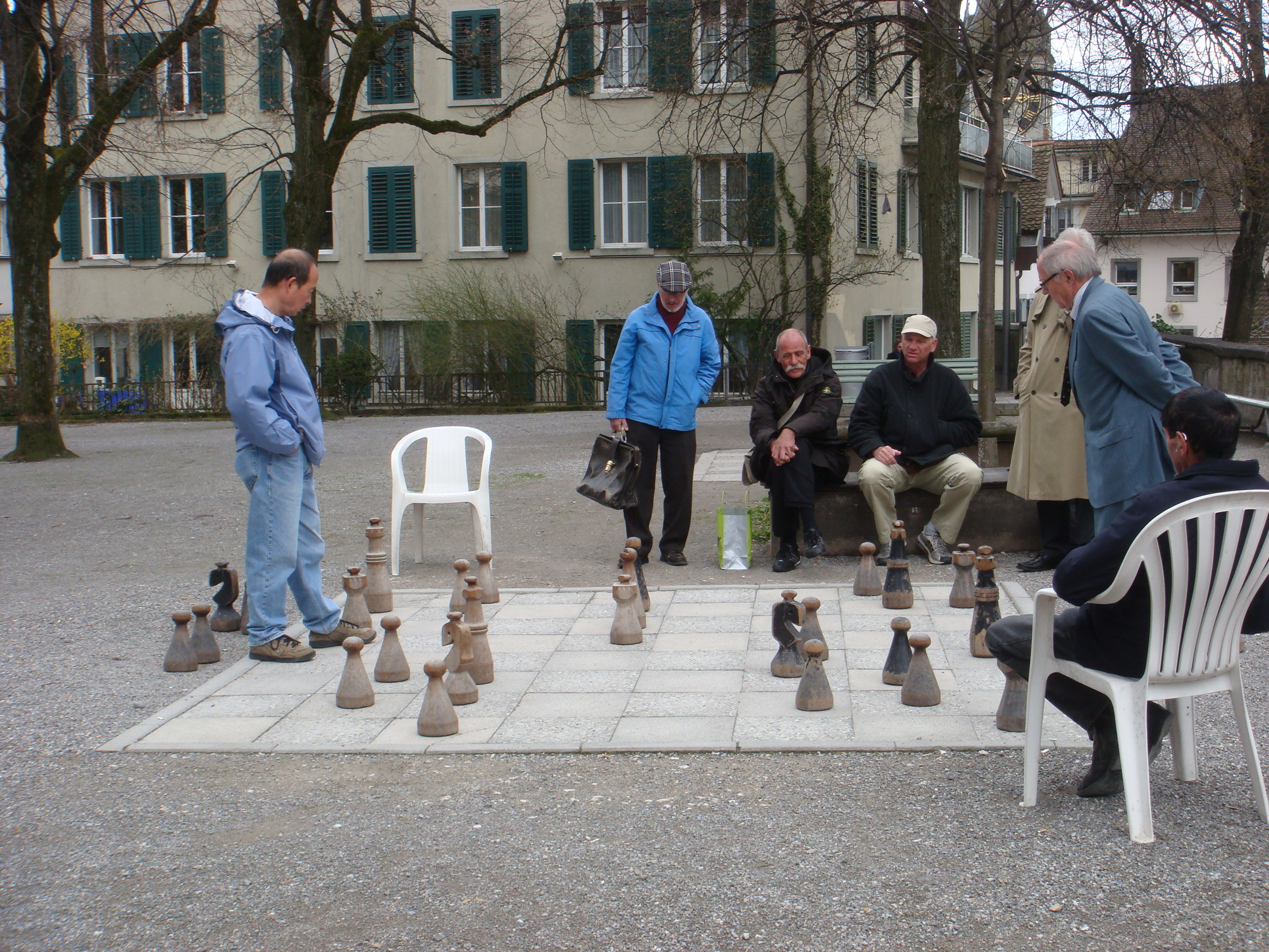 chess on huge outdoor board