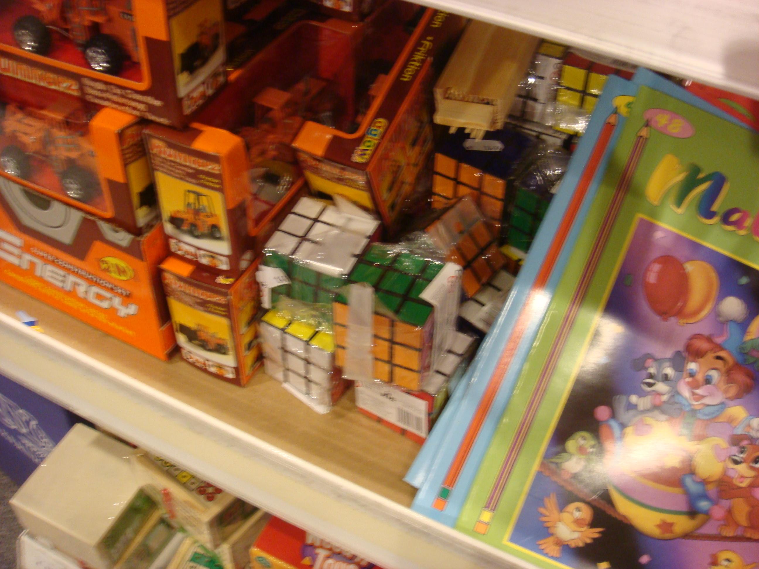 rubik's cubes in store