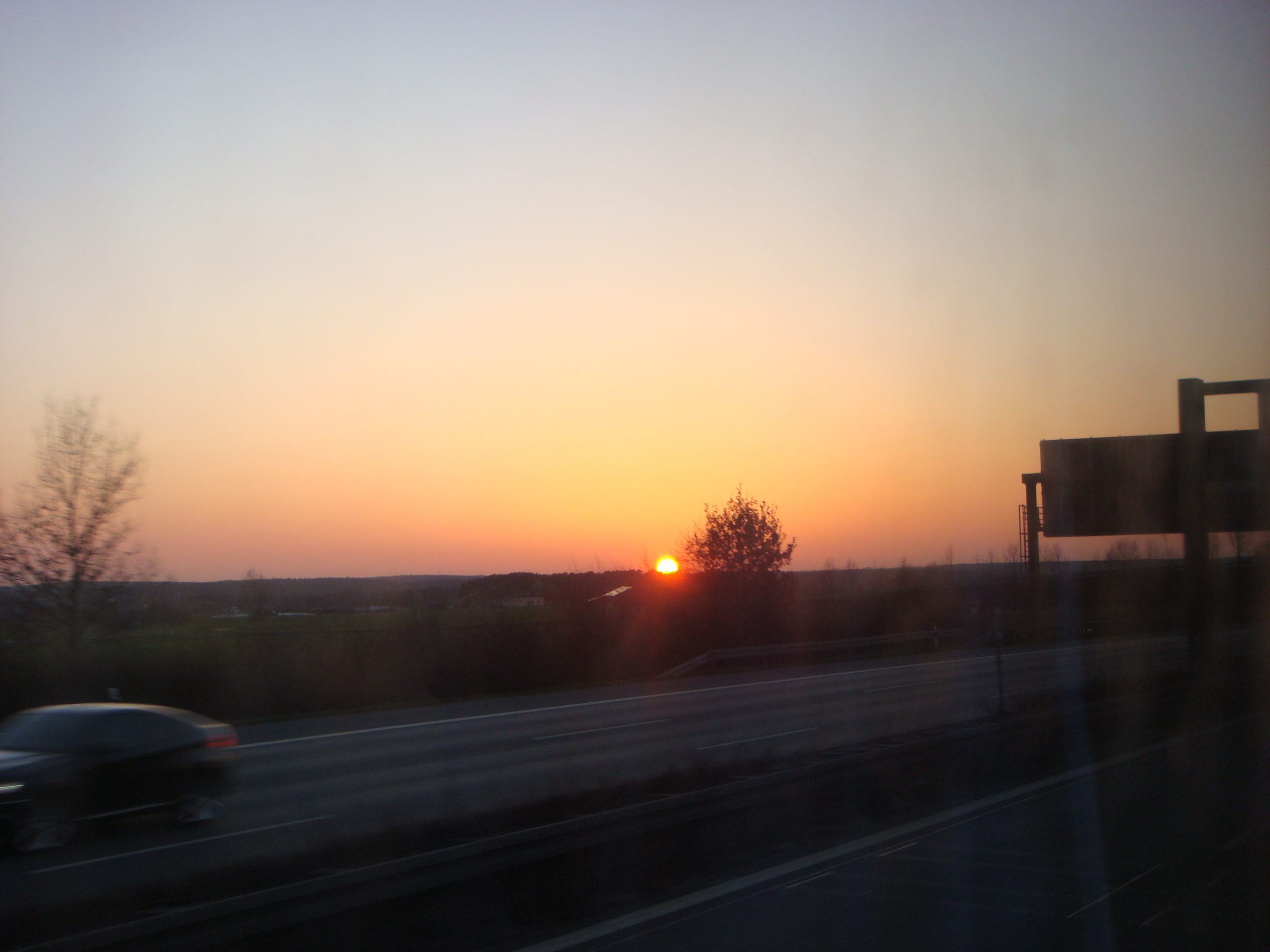 Sun going down in Germany