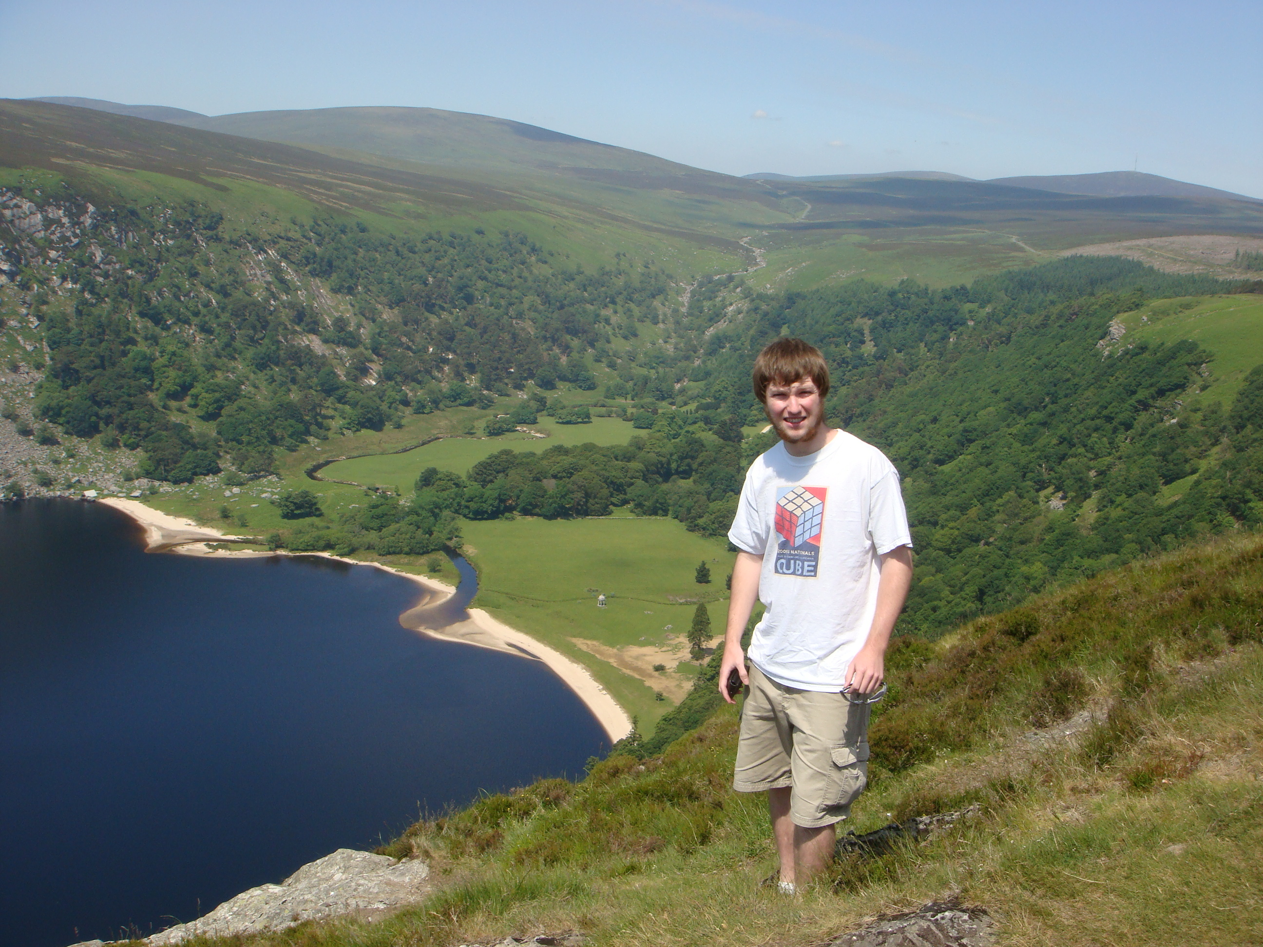 Me in front of Guinness Lake in eastern Ireland, south of Dublin.