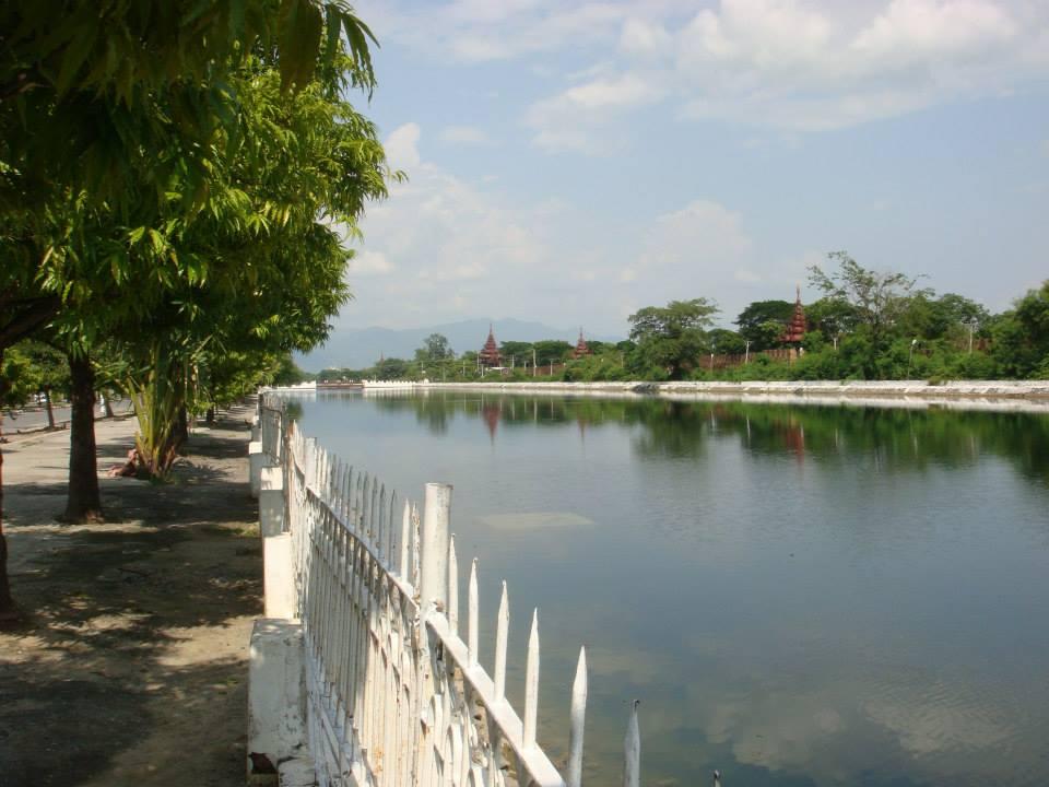 Canal along Mandalay Palace