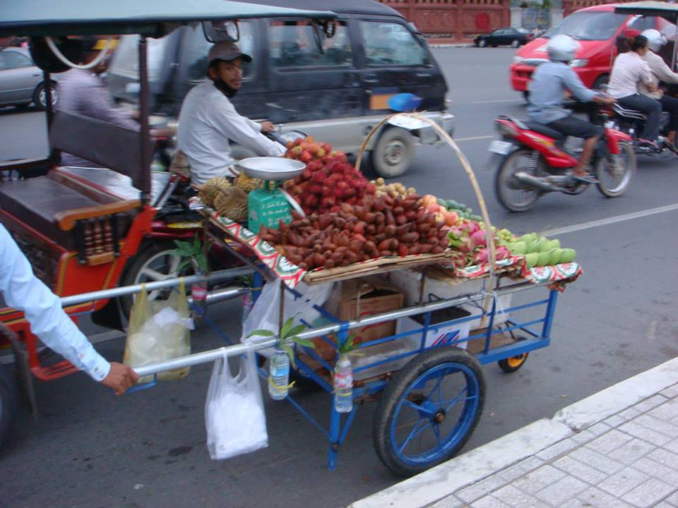 Fruit cart in Phnom Pehn, Cambodia