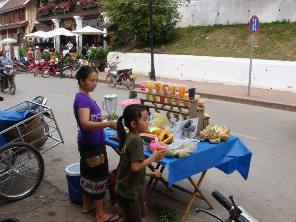 Fruit sale in Luang Prubang, Laos