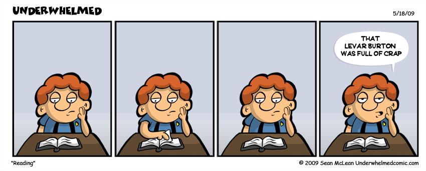 Reading comic