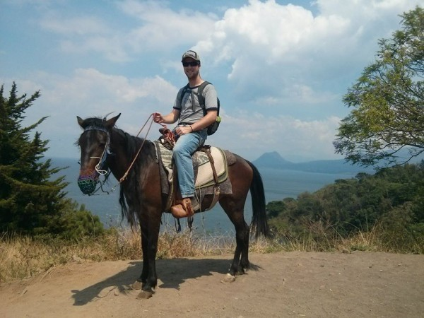 Horseback riding along Lake Atitlan, Guatemala