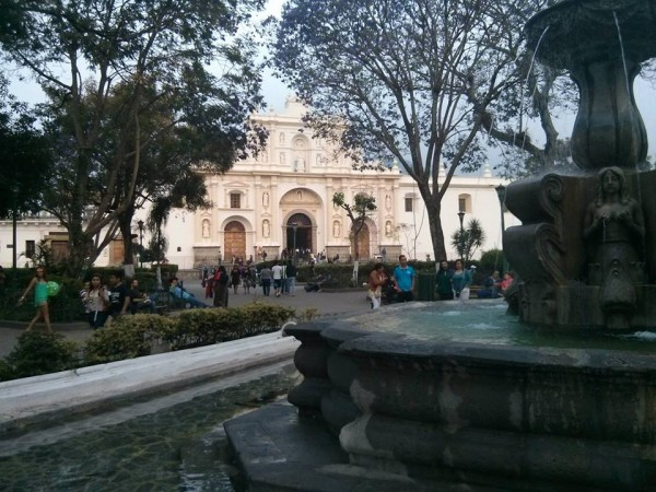The Central Park in Antigua, Guatemala