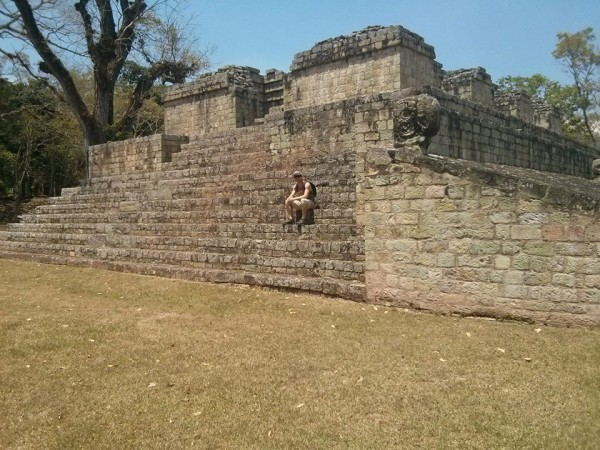 The Mayan ruins in Copan