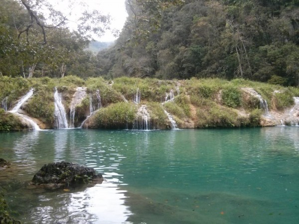 The green water of Samuc Champey