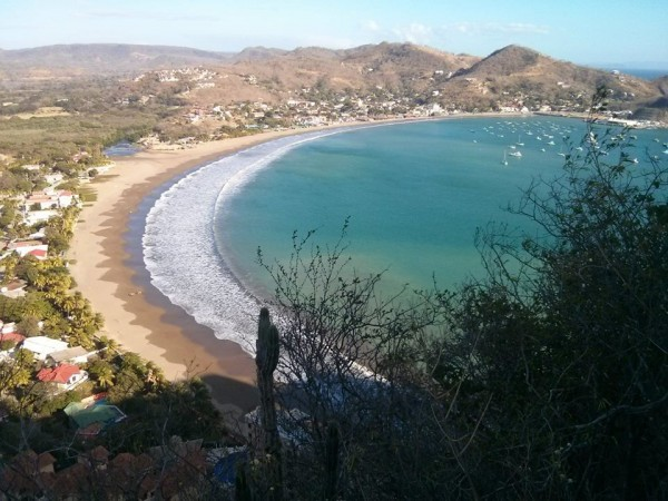 San Juan Del Sur from above