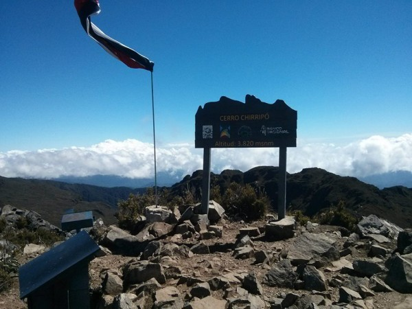 Summit of Chirripo after 9 hours up - the highest point in Costa Rica.