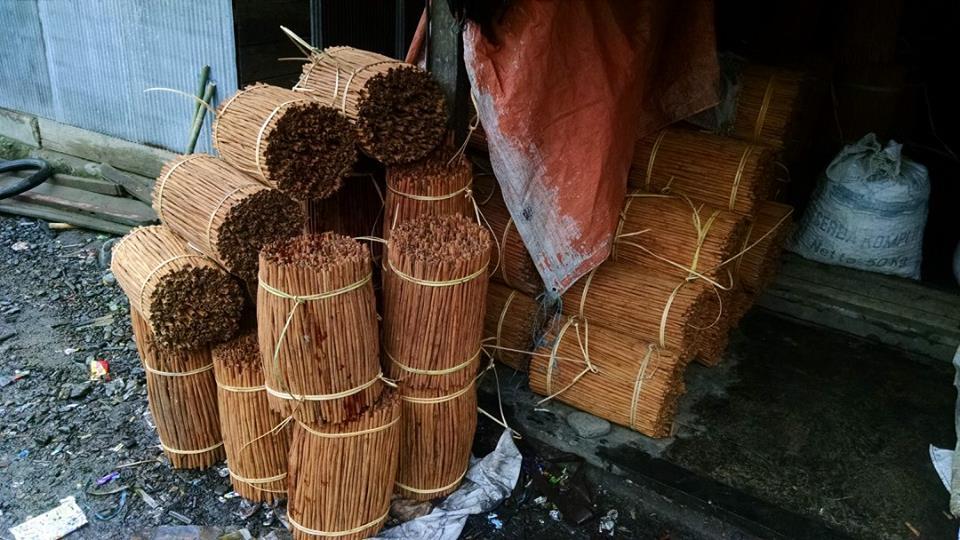Cinnamon sticks near Loksado