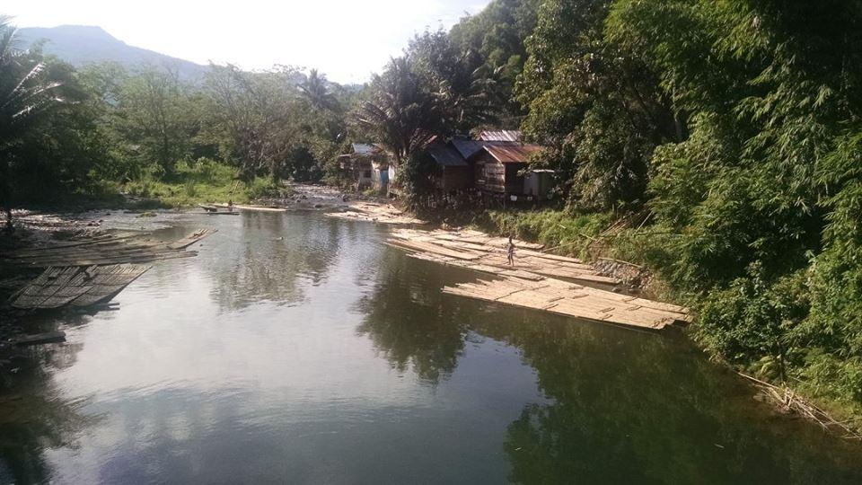 Bamboo rafts in Loksado