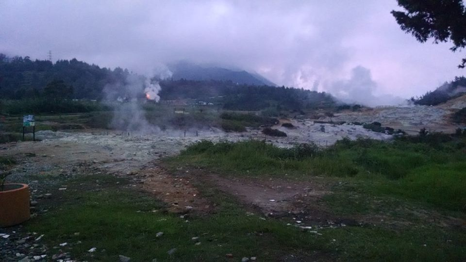 Some of the sulfur vents on the Dieng Plateau