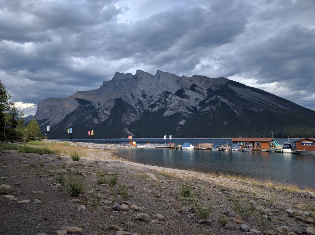 Eating near Lake Minnewanka