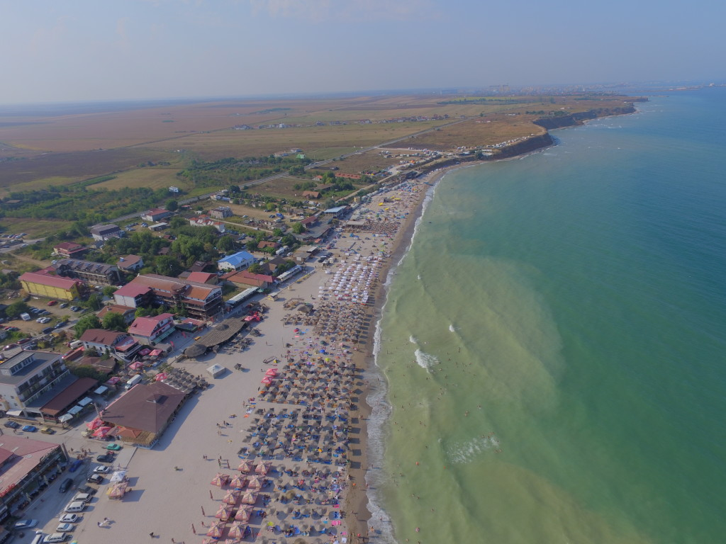 Aerial drone view of Vama Veche